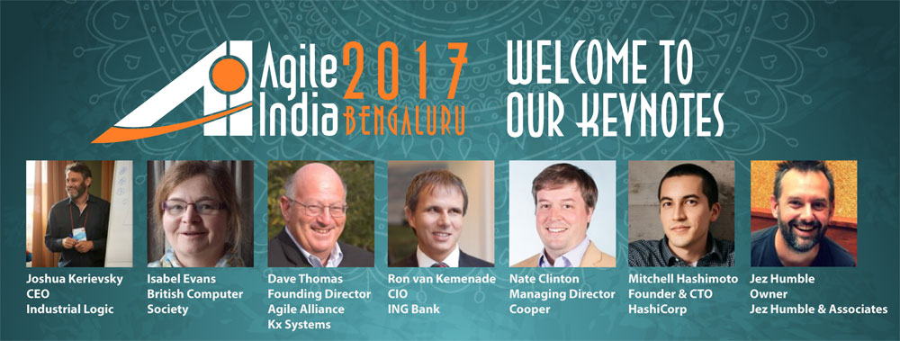Agile India 2017 Keynote Spekaers